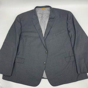 New Hickey Freeman Mens Blazer Sport Coat Gray